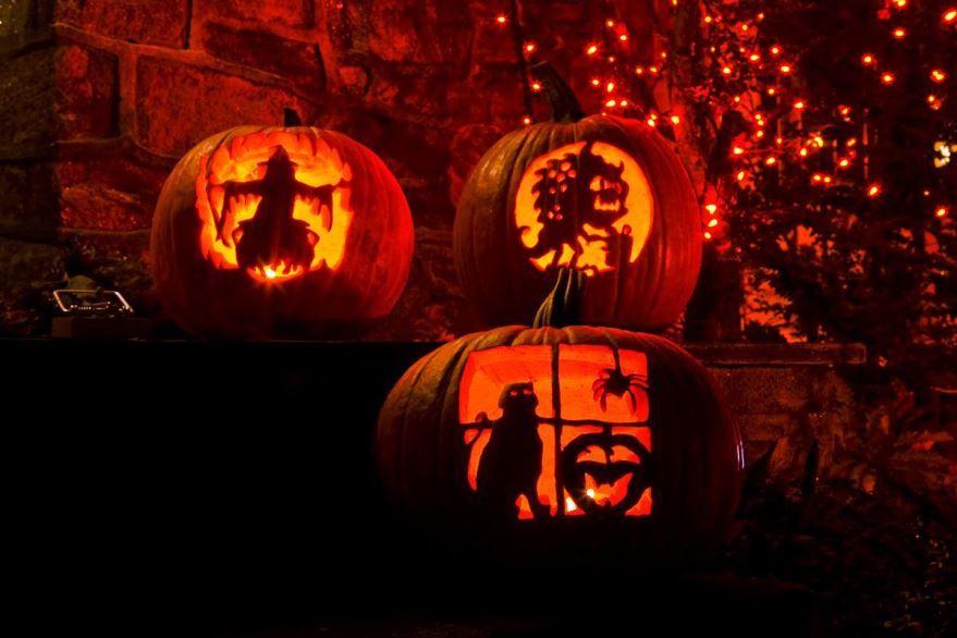 Праздник Хэллоуин открытка