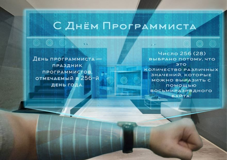Поздравления с днем программиста, открытка