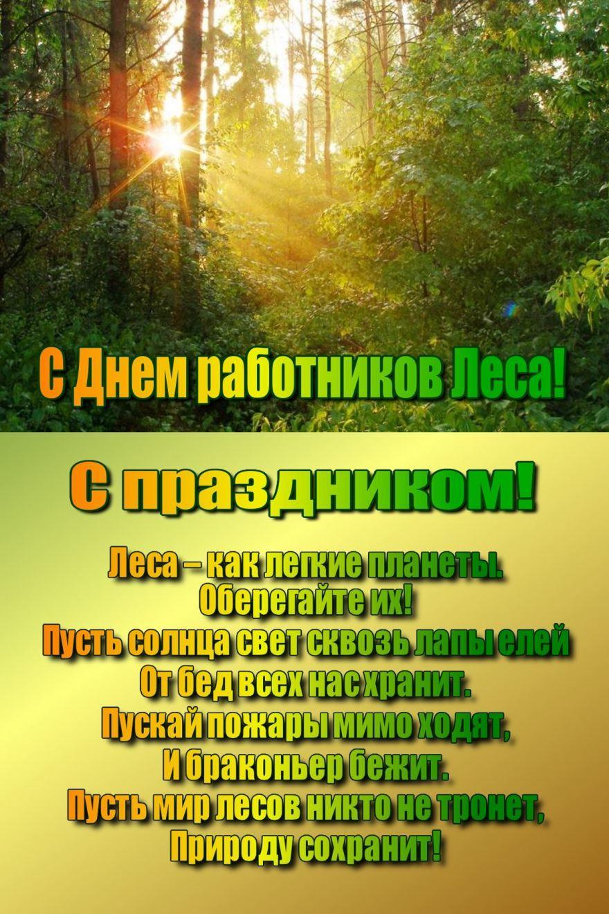 Поздравление с днем работника леса, в прозе