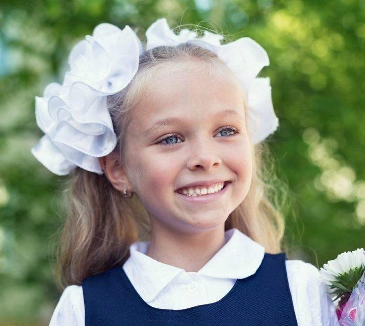 Красивая девочка 1 сентября