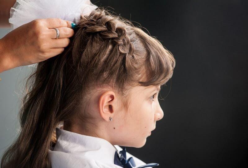 Банты на 1 сентября, на длинные волосы