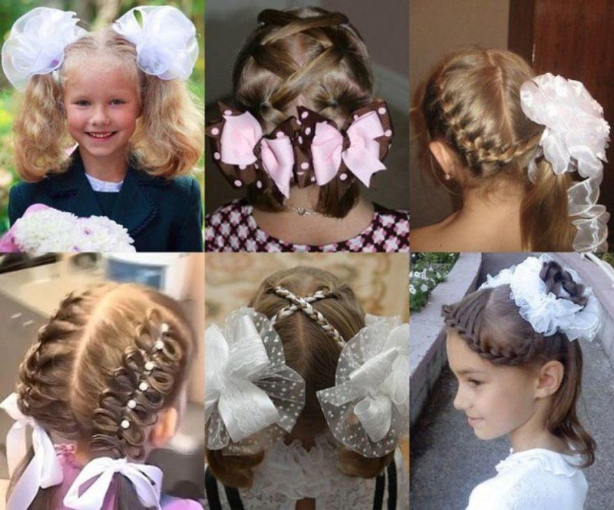 Прически на 1 сентября, на волосы