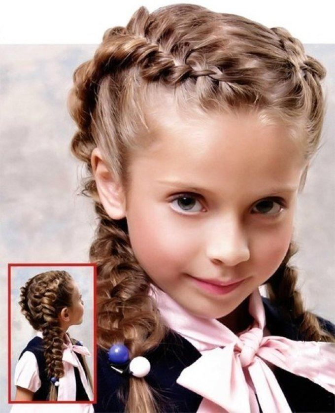 Прически на 1 сентября, длинные волосы