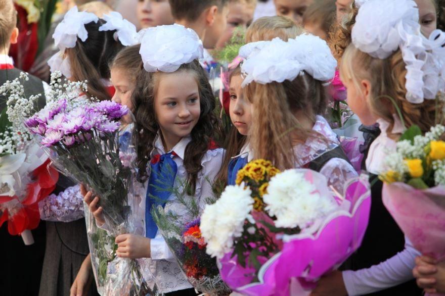 Фото школьников 1 сентября