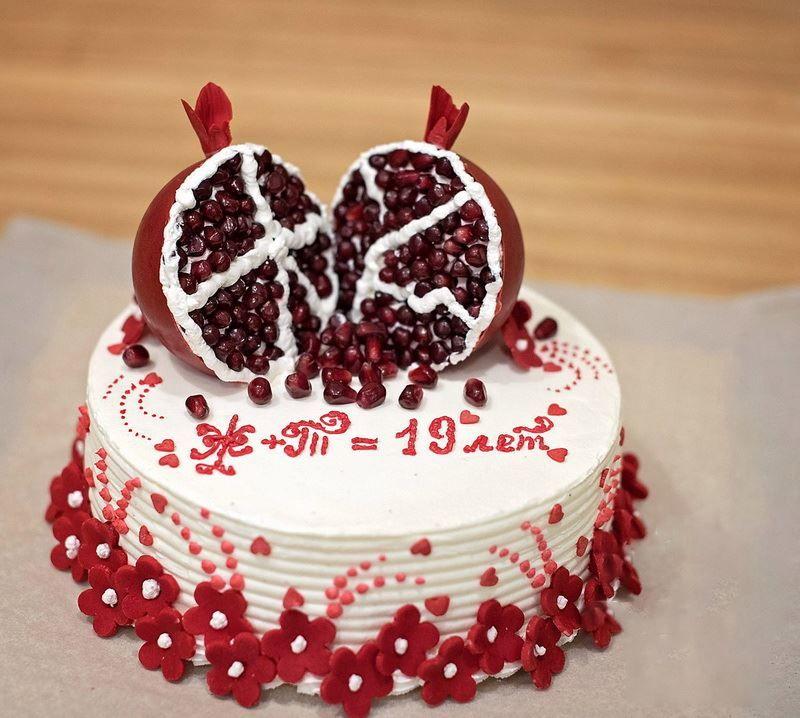 19 лет Свадьбы, торт