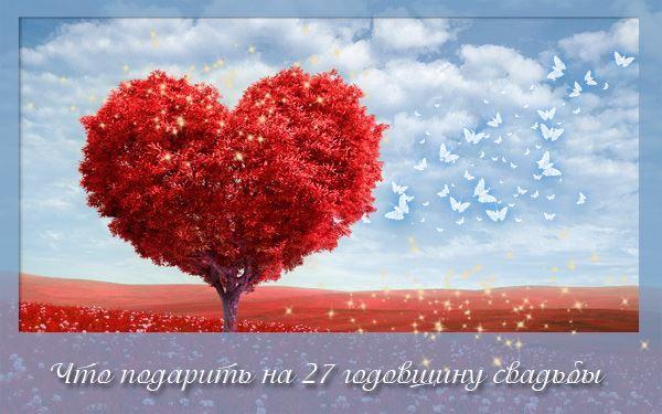 Что подарить на 27 лет Свадьбы?