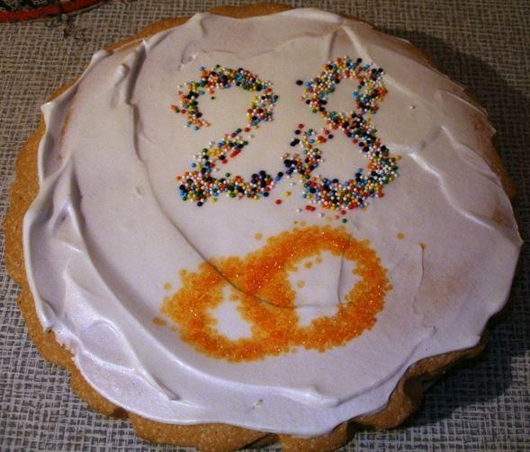 Торт 28 лет Свадьбы