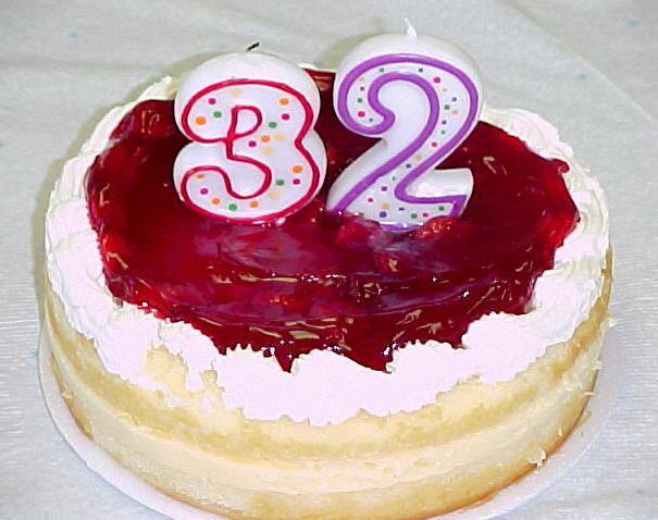 32 года Свадьбы, торт