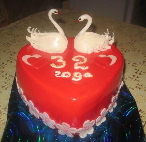 32 года совместной жизни, торт