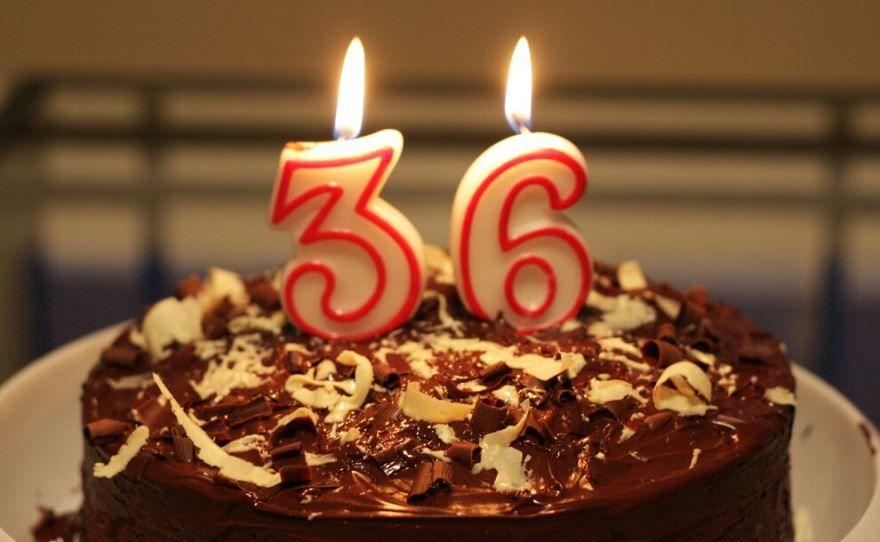 36 лет Свадьбы, торт