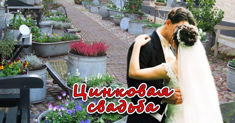6,5 лет Свадьбы - цинковая Свадьба