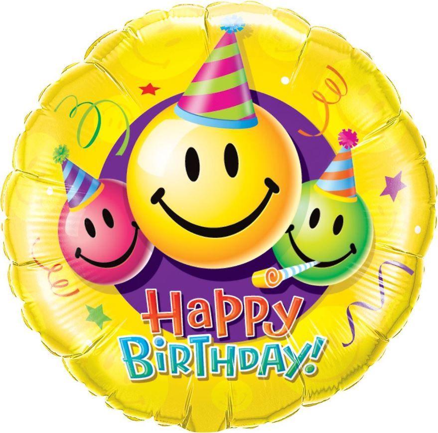 Красивая картинка с днем рождения, смайлики