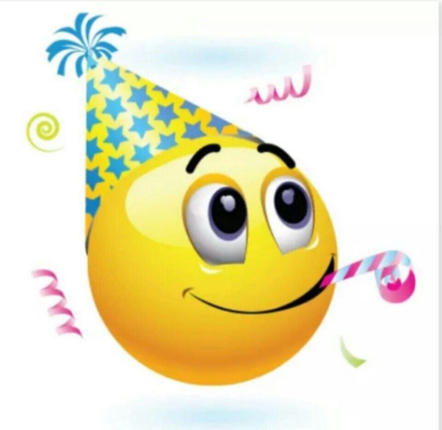 Поздравление смайликами с днем рождения
