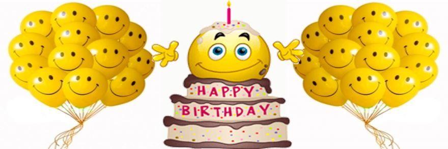 День рождения смайлика, торт