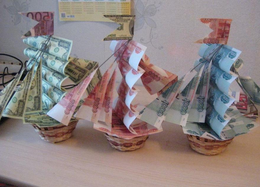 Необычные идеи для подарка на Свадьбу из денег