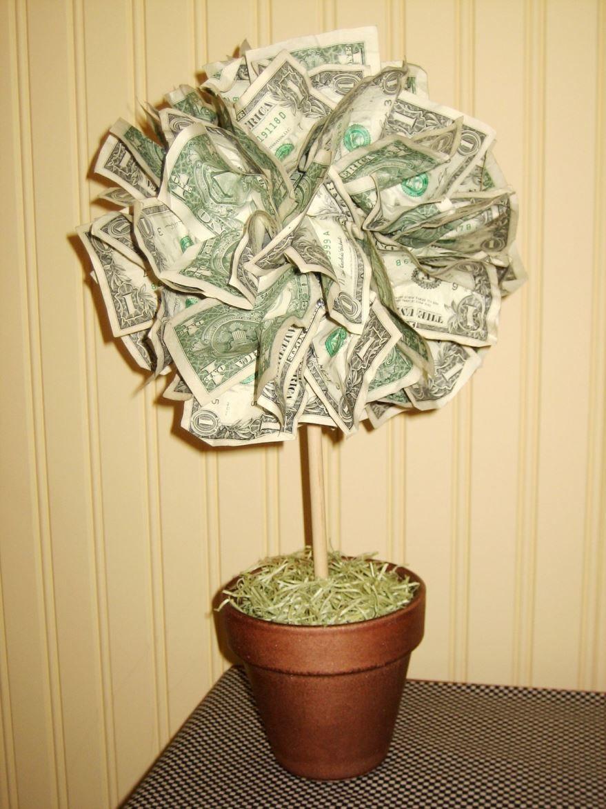 Денежное дерево, идея для подарка на Свадьбу