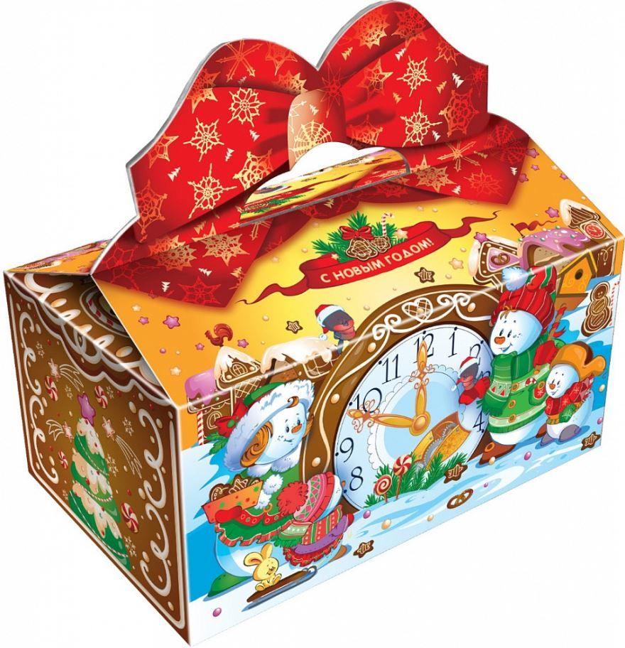 Сладкий подарок на Новый год в коробочке