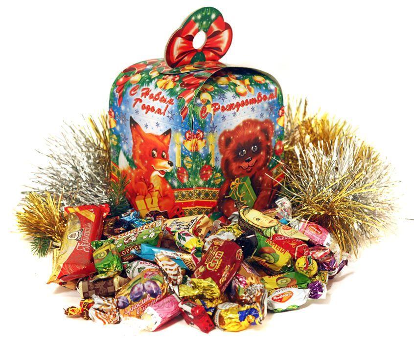 Подарки для детей на Новый год, сладкие