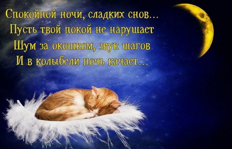 Красивое пожелание спокойной ночи, сладких снов