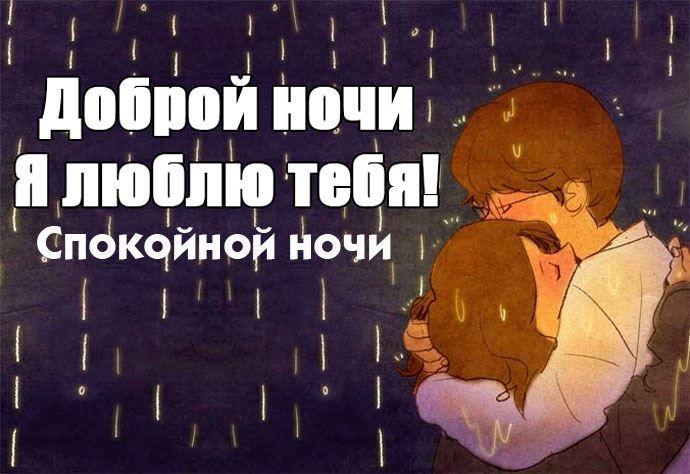 Доброй ночи любимая, пожелания своими словами