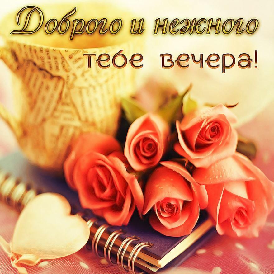 Добрый вечер красивая картинка с пожеланием