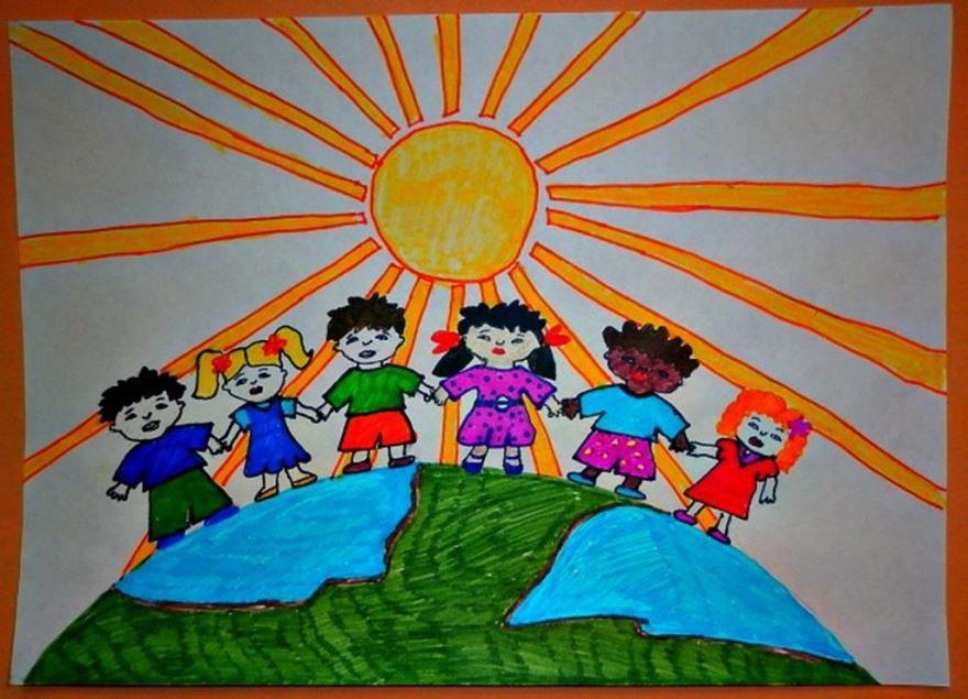 Рисунки ко дню народного единства, красками