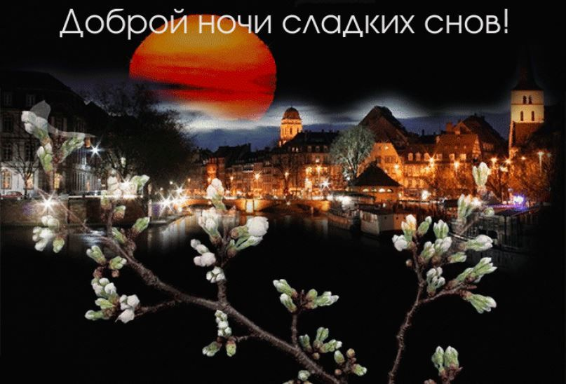 Доброй, весенней ночи и сладких снов красивая картинка