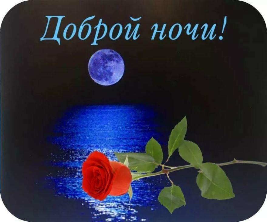 Надпись - Доброй ночи, картинка прикольная для любимой девушки