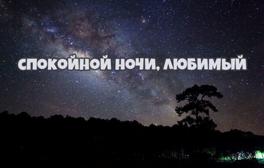 Доброй и спокойной ночи любимый
