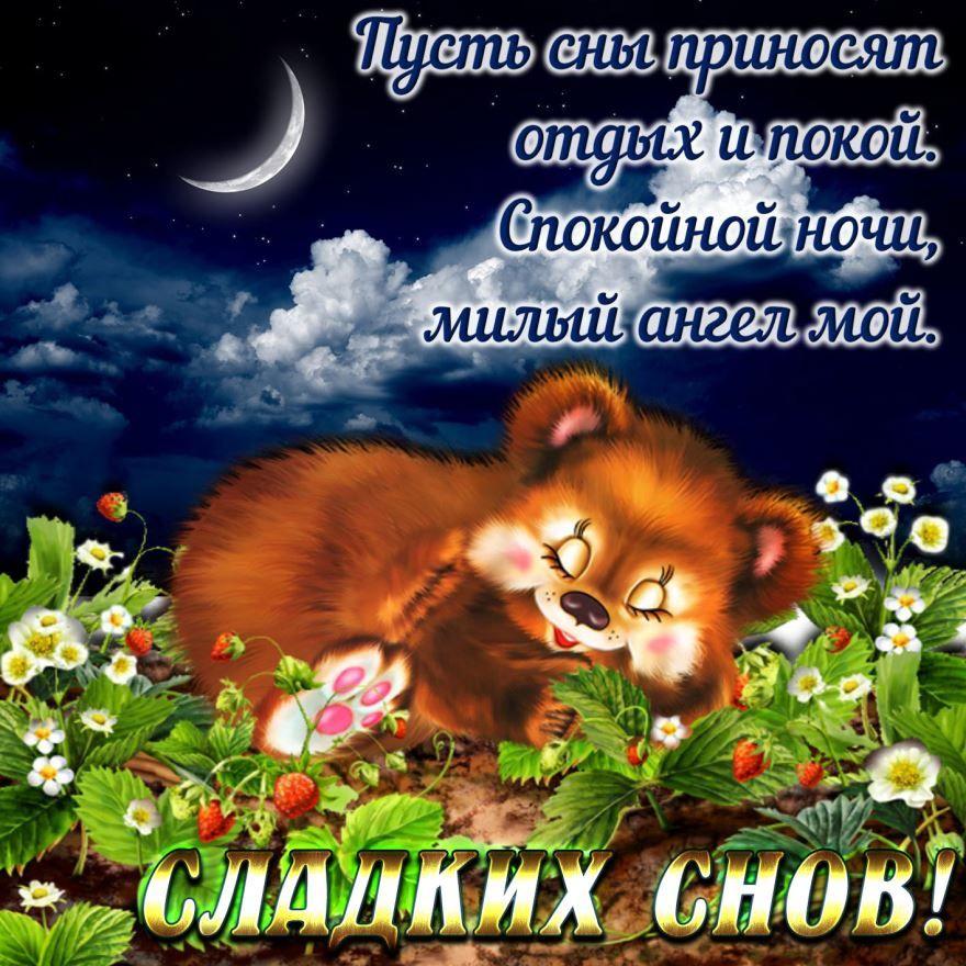Красивая картинка с красивым пожеланием 'Доброй ночи'