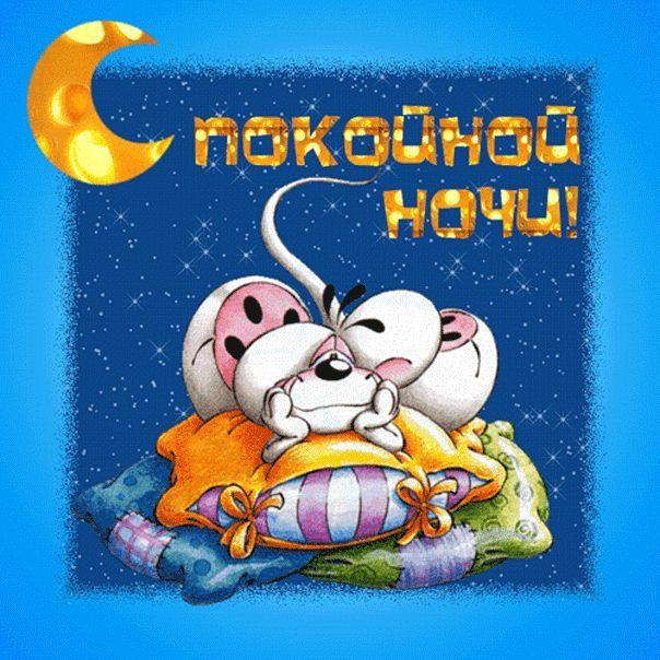 Картинка с надписью - Спокойной ночи, прикольная