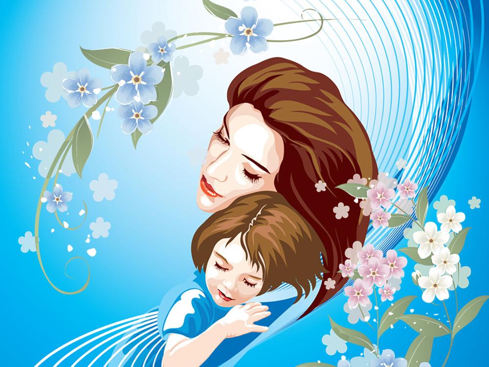 Картинка с днем матери, трогательная