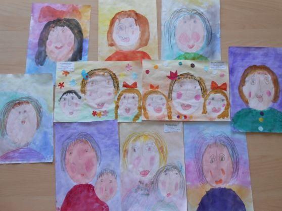 Детские рисунки ко дню матери