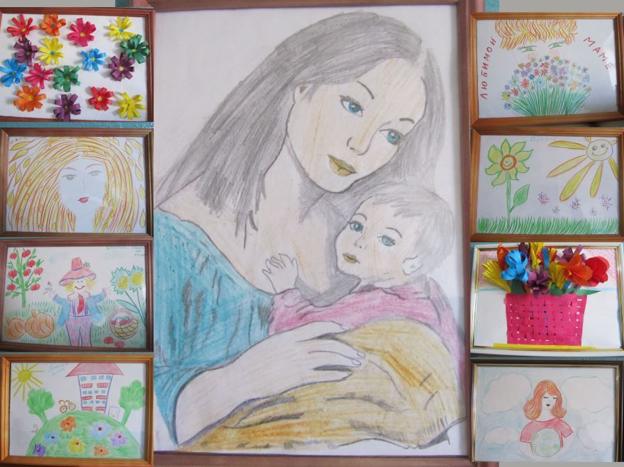 Красивые рисунки ко дню матери