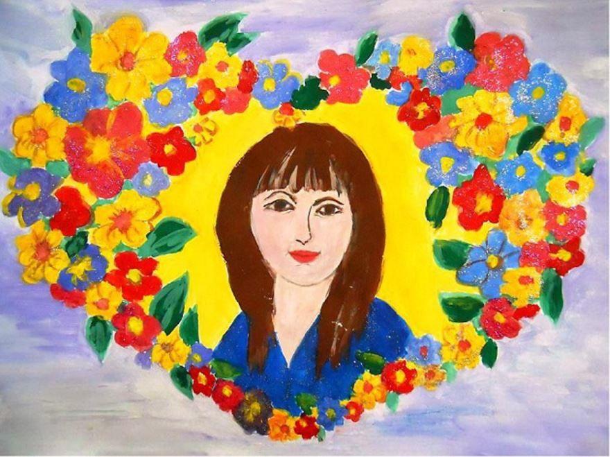 Рисунки ко дню матери, своими руками