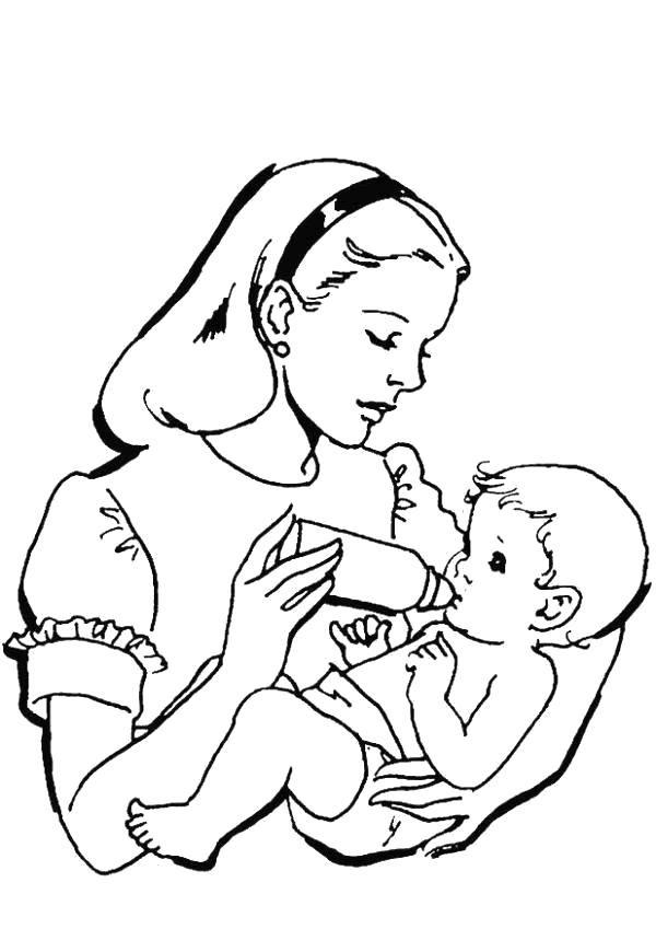 Рисунки на день матери для срисовки