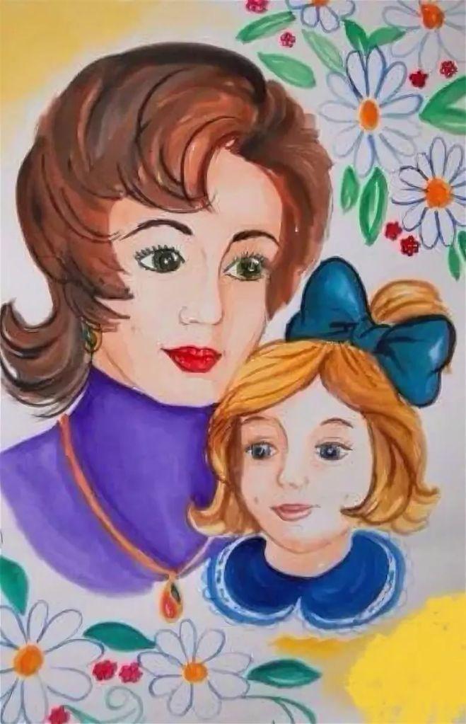Рисунки ко дню матери для школы
