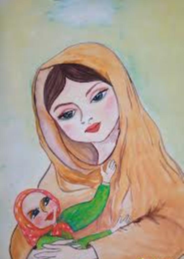Рисунки ко дню матери, детские