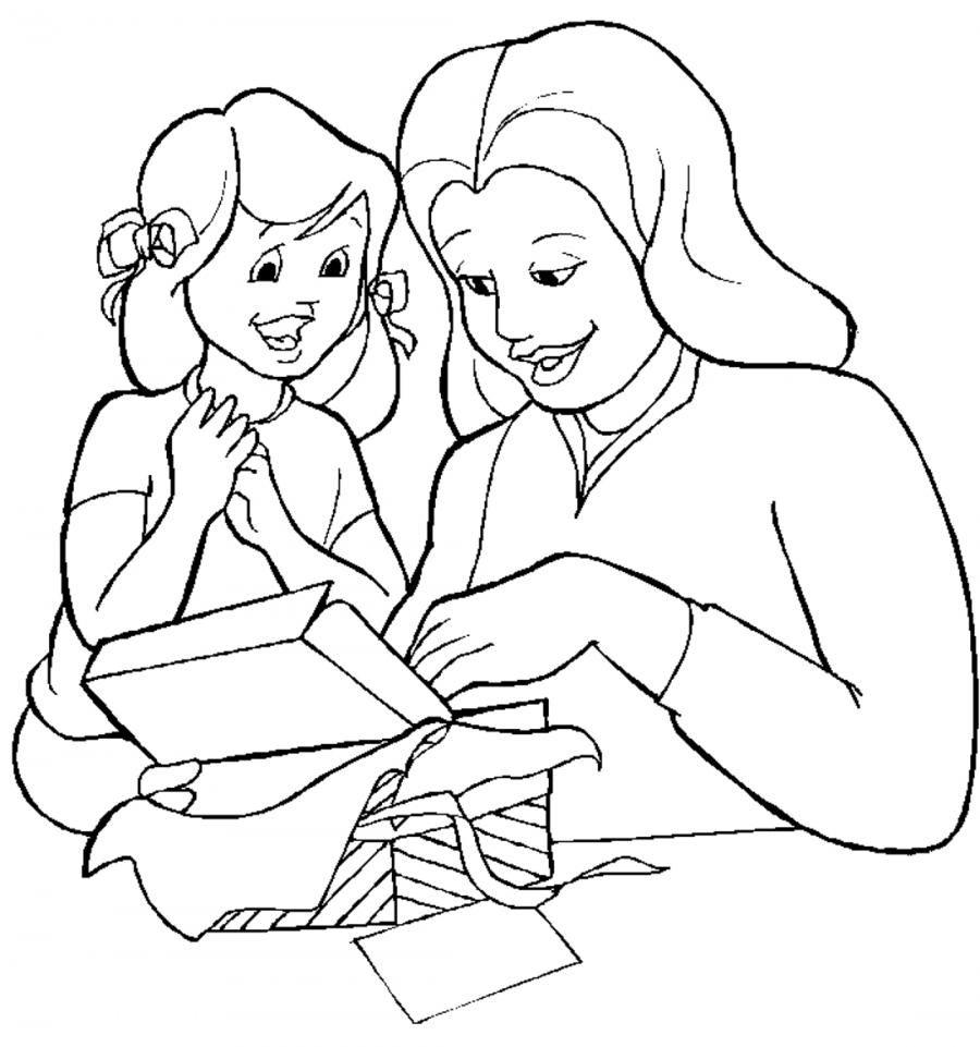 Рисунки ко дню матери для срисовки
