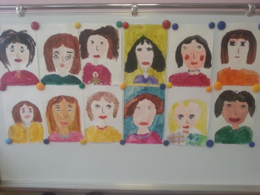Рисунки детей на день матери