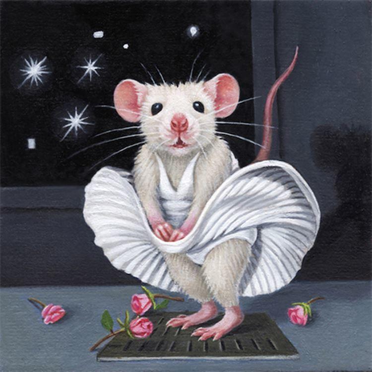 Красивая картинка год белой мыши 2032 год