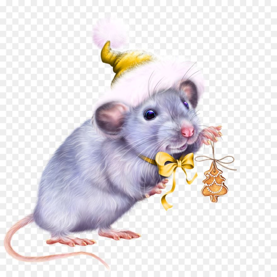 Красивая картинка Новый год 2032 с мышкой
