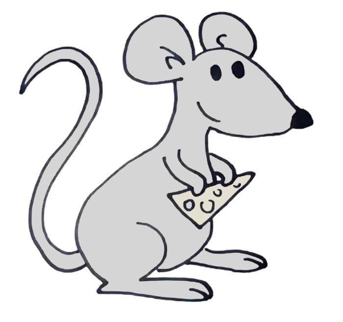 Символ года мышь, рисунок своими руками