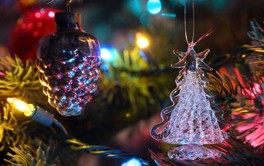 Картинка елка и Новогодние игрушки