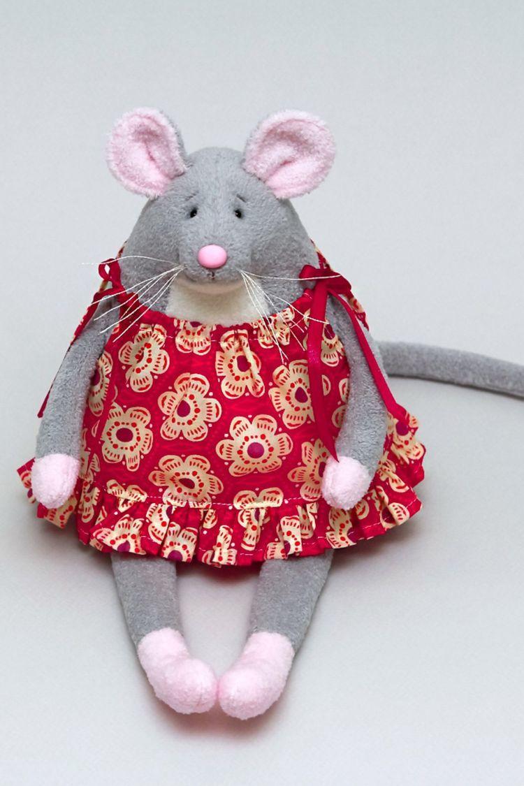 Большая мышь, своими руками на Новый год, игрушка