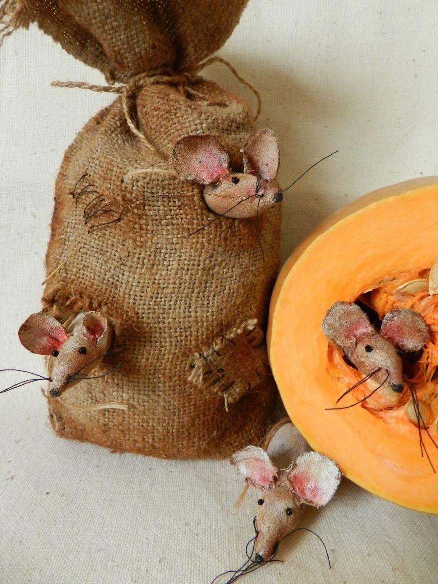Поделки мышки на Новый год, своими руками