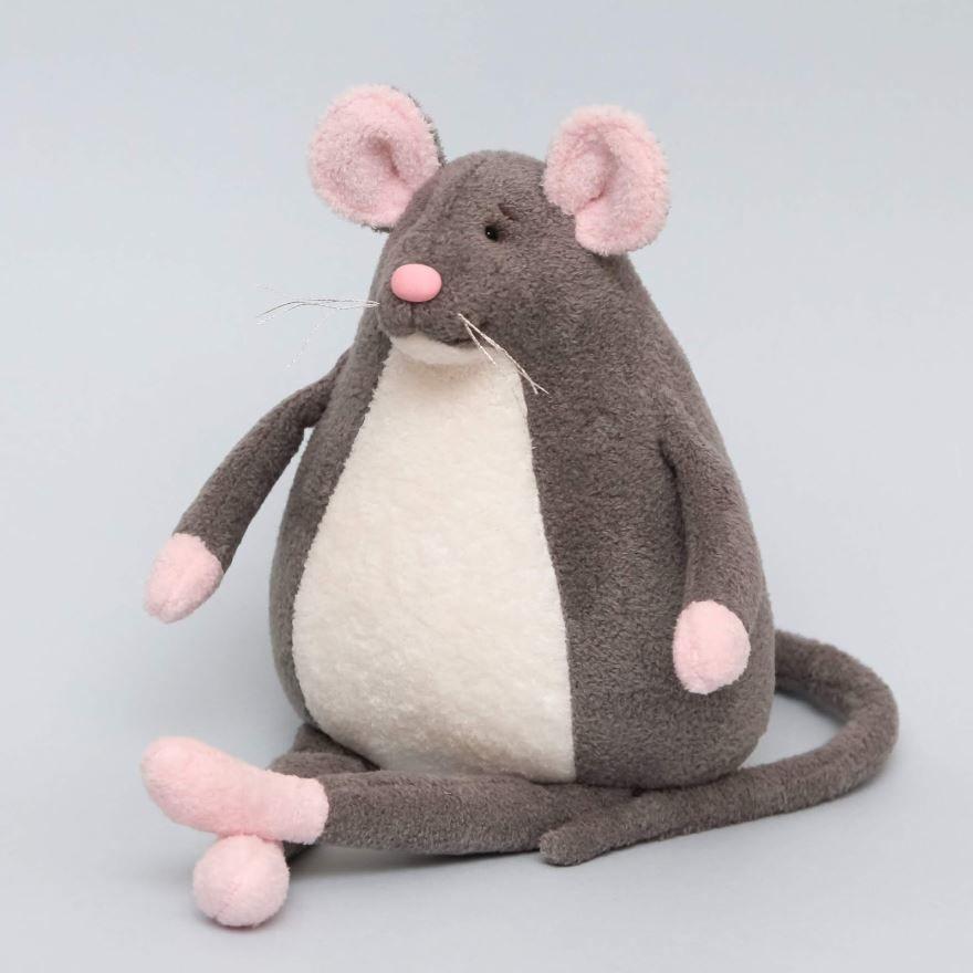 Мышь на Новый год, своими руками игрушка большая
