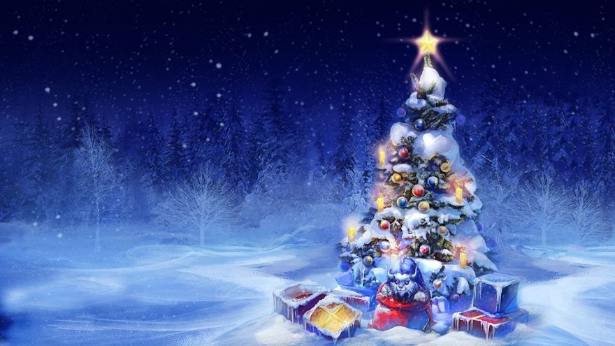 Новогодняя елка обои на рабочий стол