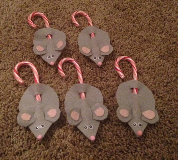 Поделки мыши на Новый год в садик, своими руками