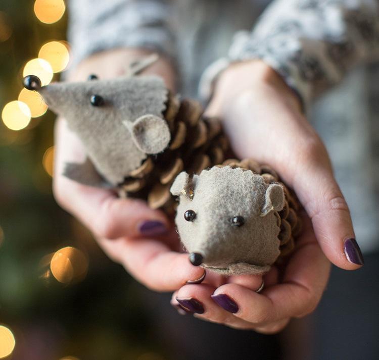 Поделка мышь на Новый год